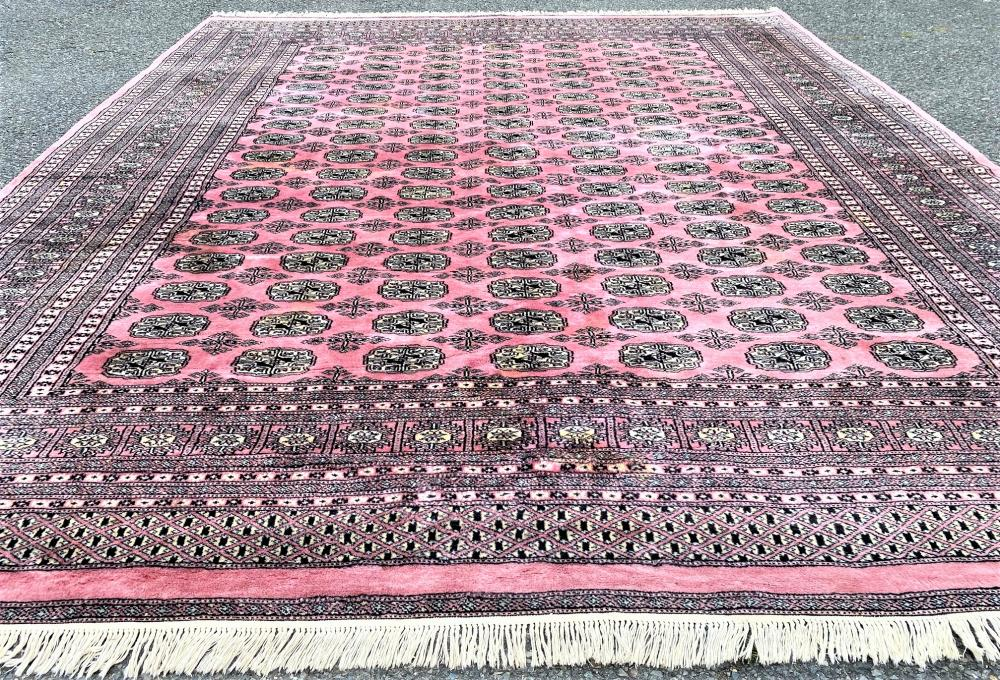 SIGNED BUKHARA HAND KNOTTED RUG WITH 250+ KPSI - 8.2 x 9.9