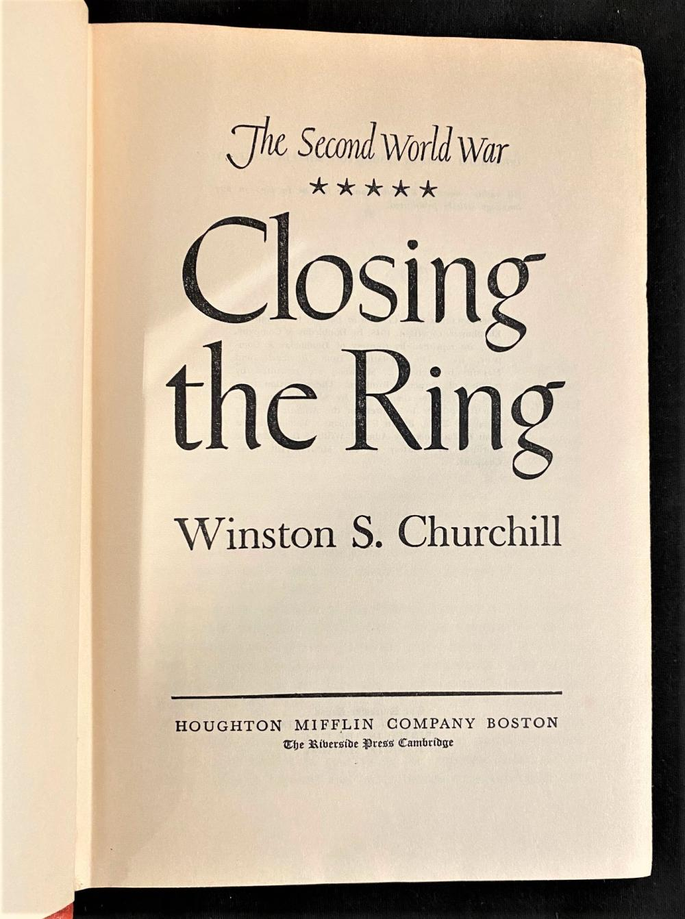WINSTON CHURCHILL COLLECTION - THE SECOND WORLD WAR AND THE HISTORY OF ENGLISH SPEAKING PEOPLES. 10 VOLUMES, 1948-1965