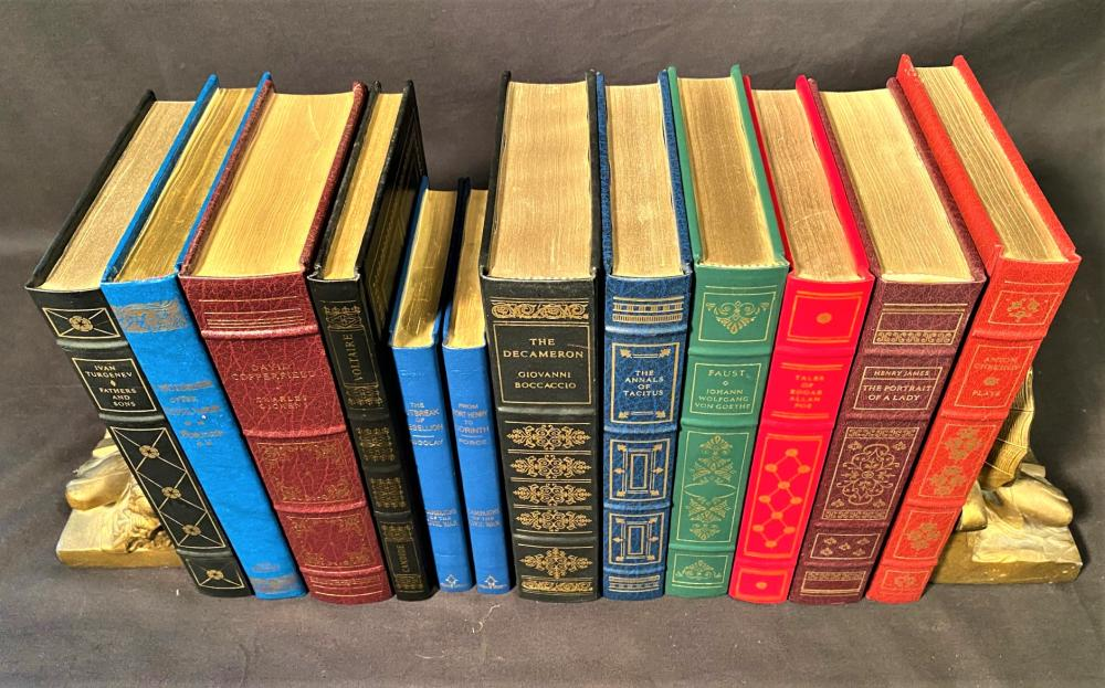 FRANKLIN LIBRARY LEATHER BOUND BOOKS - 12 VOLUMES