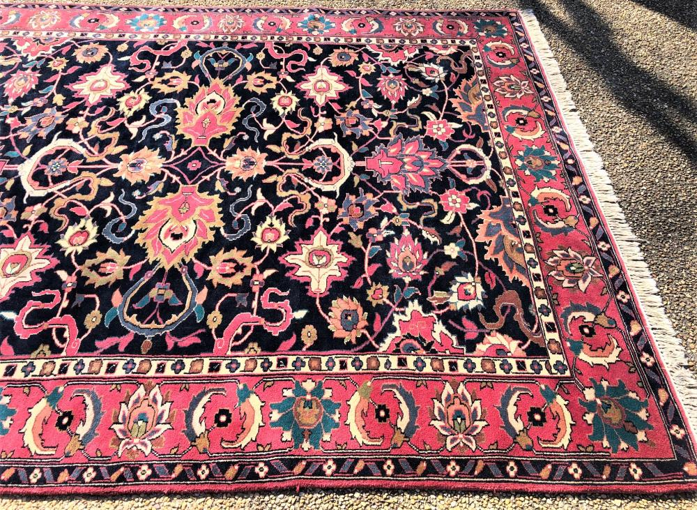 PERSIAN KASHAN HAND KNOTTED RUG - 8.5 x 10.10