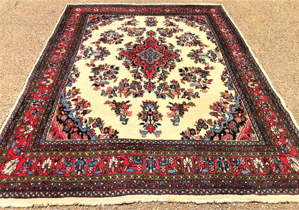 PERSIAN TABRIZ HAND KNOTTED RUG - 8.0 x 10.4