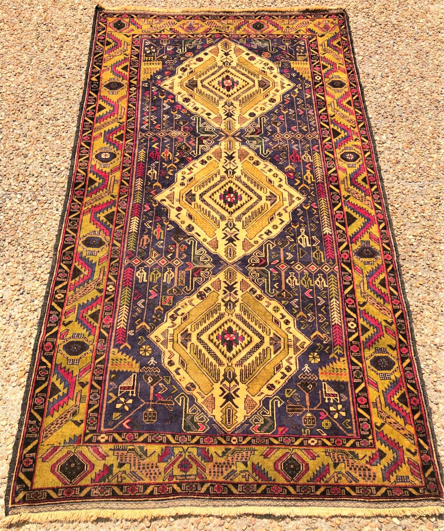 BALOUCH HAND KNOTTED RUG - 3.6 x 6.7