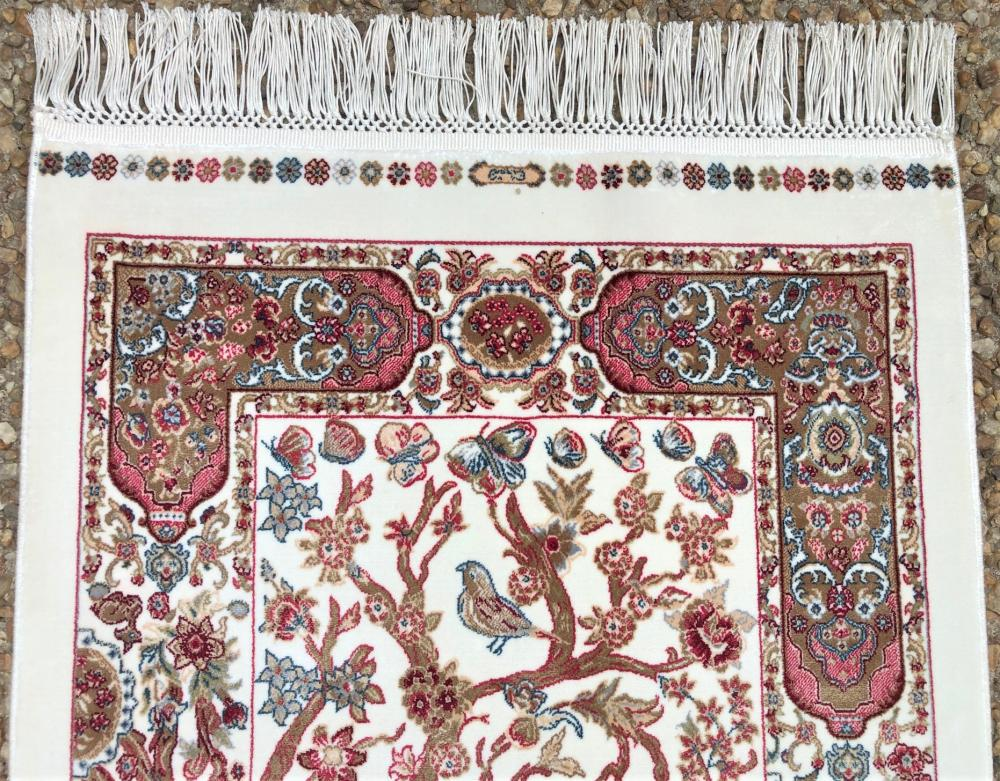 SILK TREE OF LIFE HAND KNOTTED RUG - 1.11 x 3.6