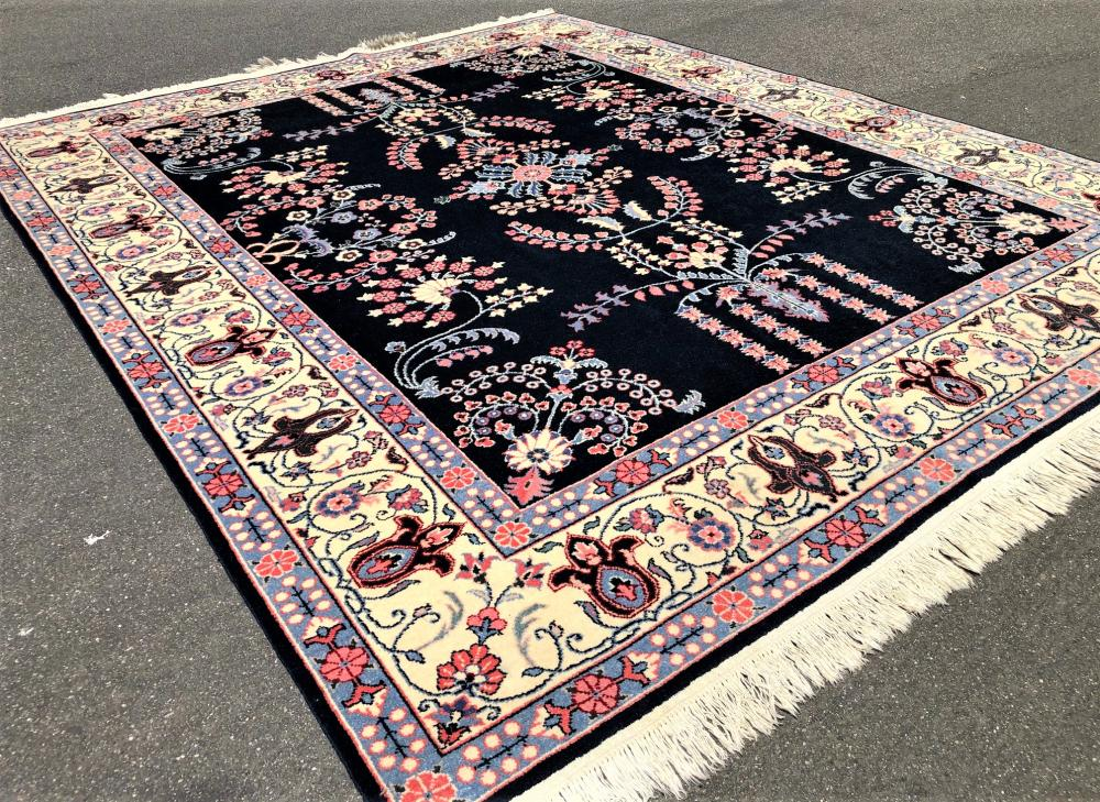 PERSIAN ISFAHAN HAND KNOTTED RUG - 8.0 x 10.0