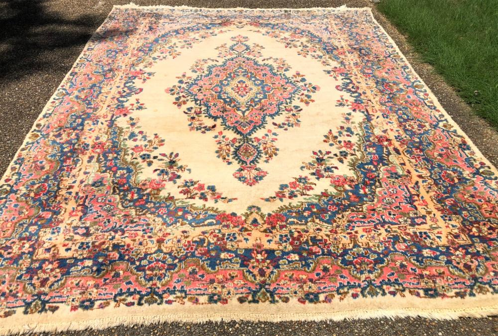 PERSIAN KERMAN HAND KNOTTED RUG - 8.10 x 11.8