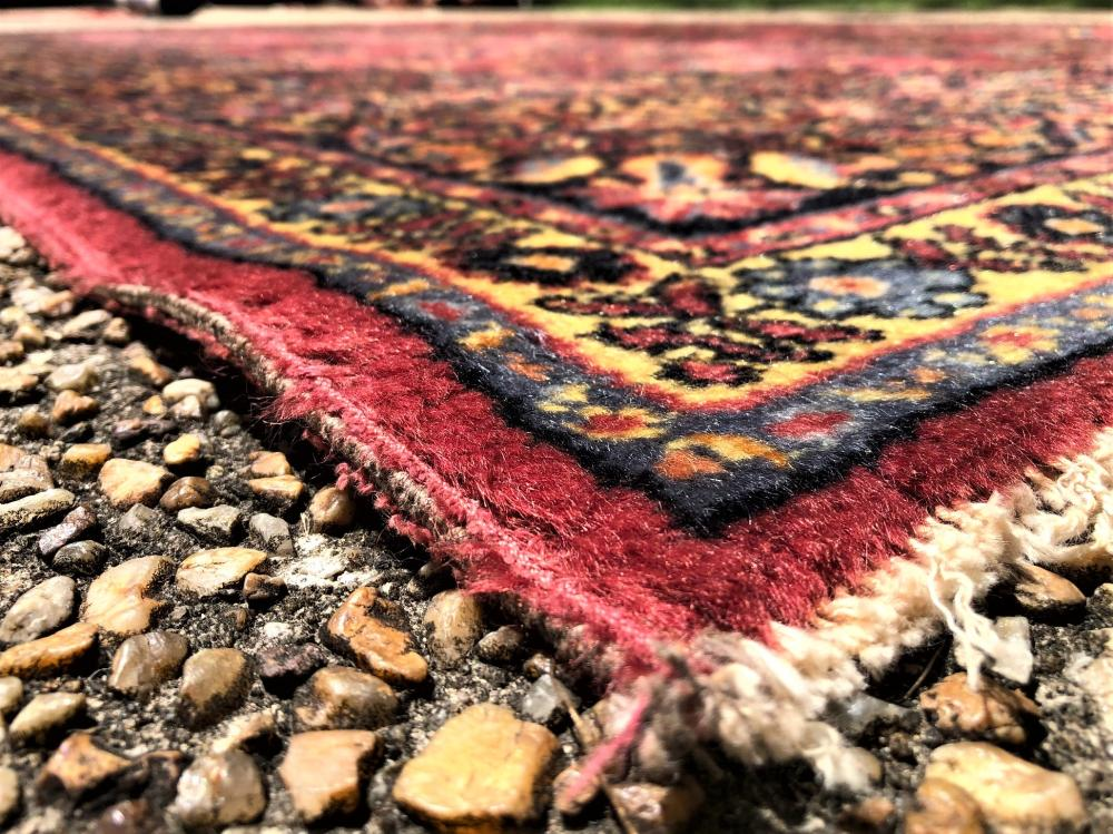PERSIAN KERMAN HAND KNOTTED RUG - 8.9 x 12.0