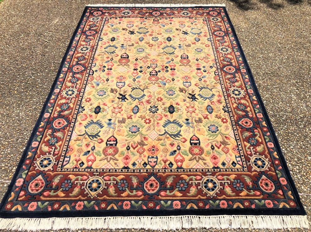PERSIAN MAHAL HAND KNOTTED RUG - 5.6 x 8.6