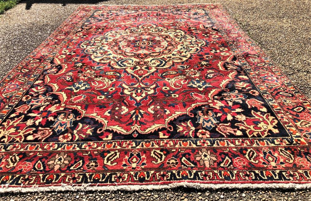 PERSIAN TABRIZ HAND KNOTTED RUG - 6.9 x 11.0