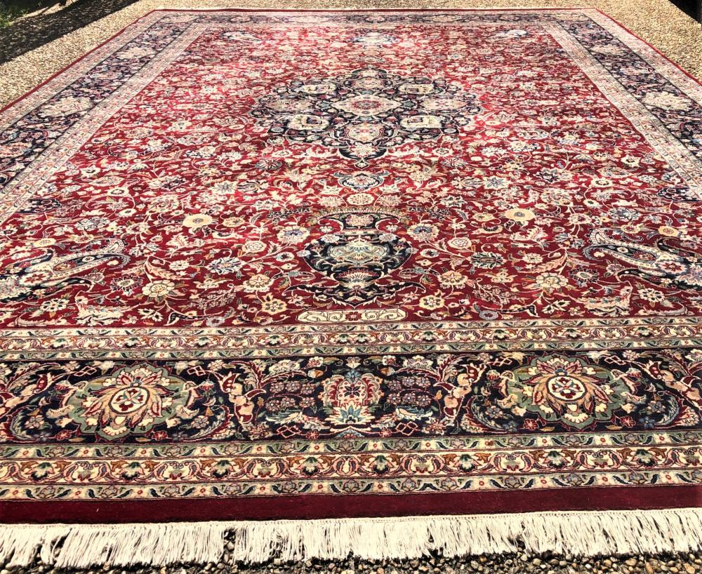 PERSIAN MAHAL HAND KNOTTED RUG – 10.0 x 14.0