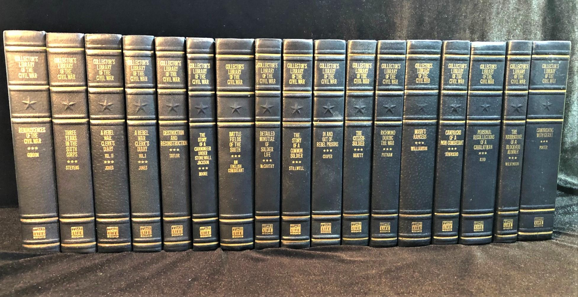 COLLECTORS LIBRARY OF THE CIVIL WAR BY TIME LIFE BOOKS - HARDCOVER LEATHERBOUND IN 17 VOLUMES