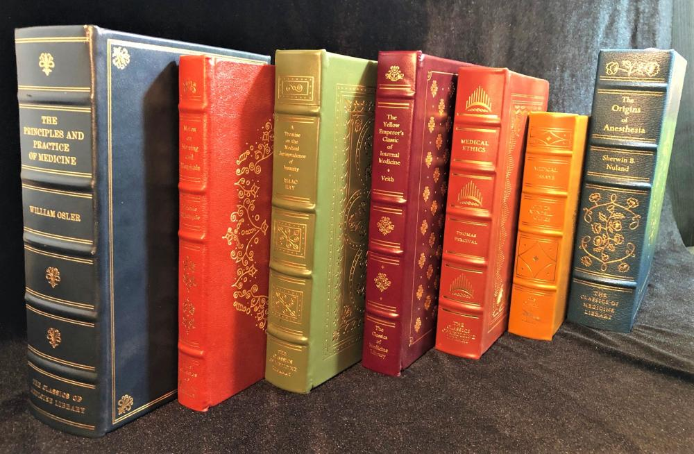 GRYPHON CLASSICS OF MEDICINE LIBRARY – 13 LEATHERBOUND VOLUMES