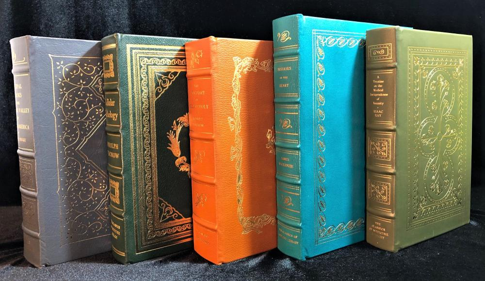 GRYPHON CLASSICS OF MEDICINE LIBRARY - 10 LEATHERBOUND VOLUMES