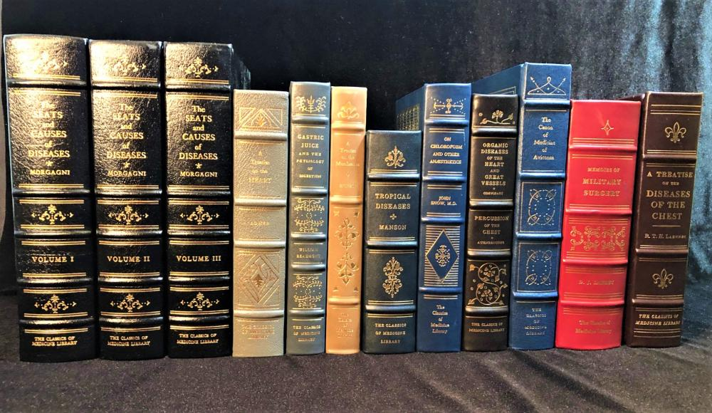 GRYPHON CLASSICS OF MEDICINE LIBRARY - 12 LEATHERBOUND VOLUMES