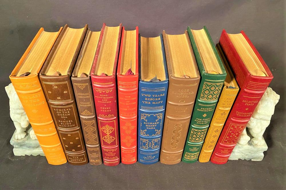 FRANKLIN LIBRARY LEATHER BOUND BOOKS - 10 VOLUMES
