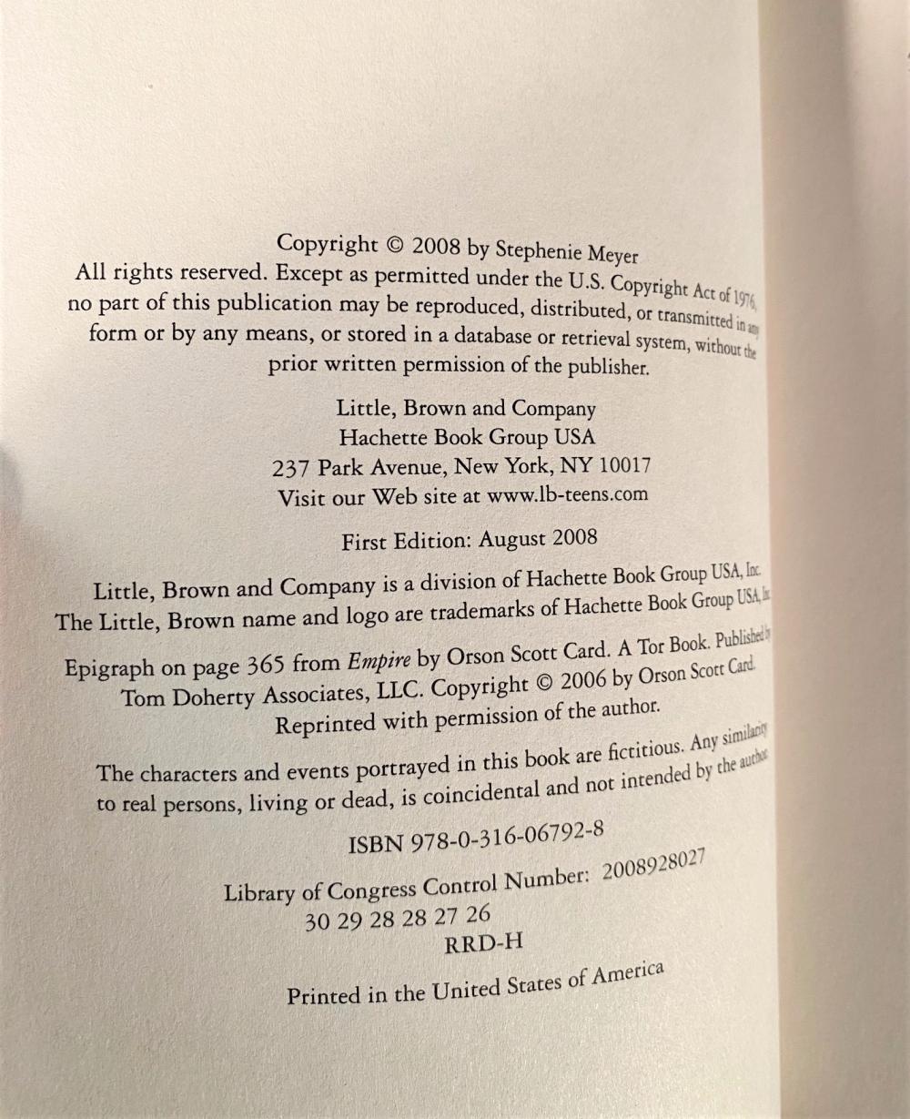 TWILIGHT SAGA COLLECTION HARDCOVER BOX SET - 4 VOLUMES - 2008