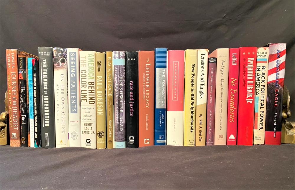 BLACK EXPERIENCE BOOK COLLECTION – ALL SIGNED BY AUTHOR TO PROF. CLARICE WALKER OF HOWARD UNIVERSITY – 23 VOLUMES