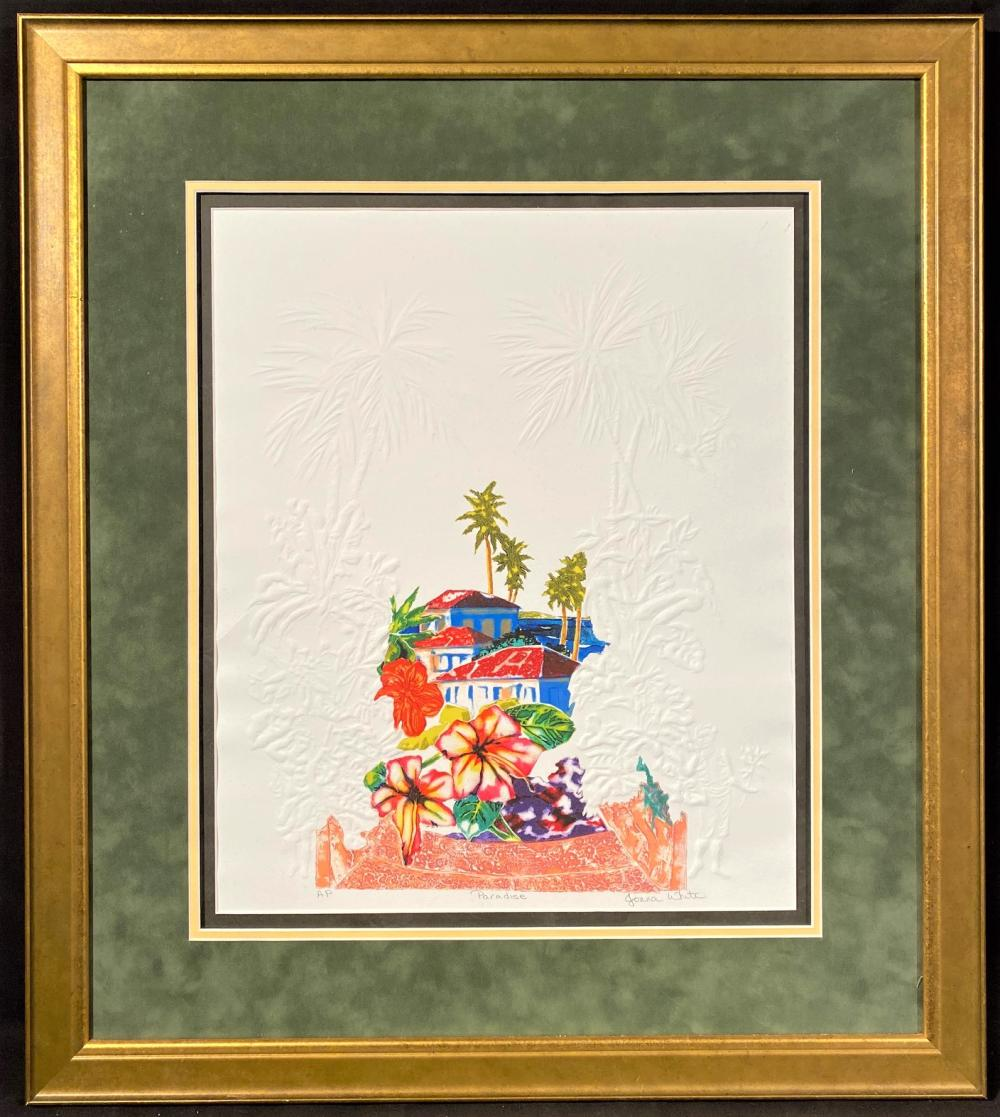 """JONNA WHITE ARTISTS PROOF TITLED """"PARADISE"""" – 27IN x 30IN"""
