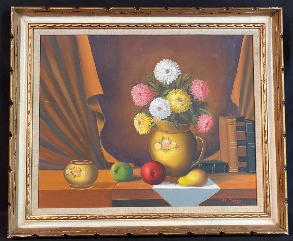 RONALD HEDGE (1954-2010) ORIGINAL OIL ON CANVAS MEASURES 30IN x 37IN
