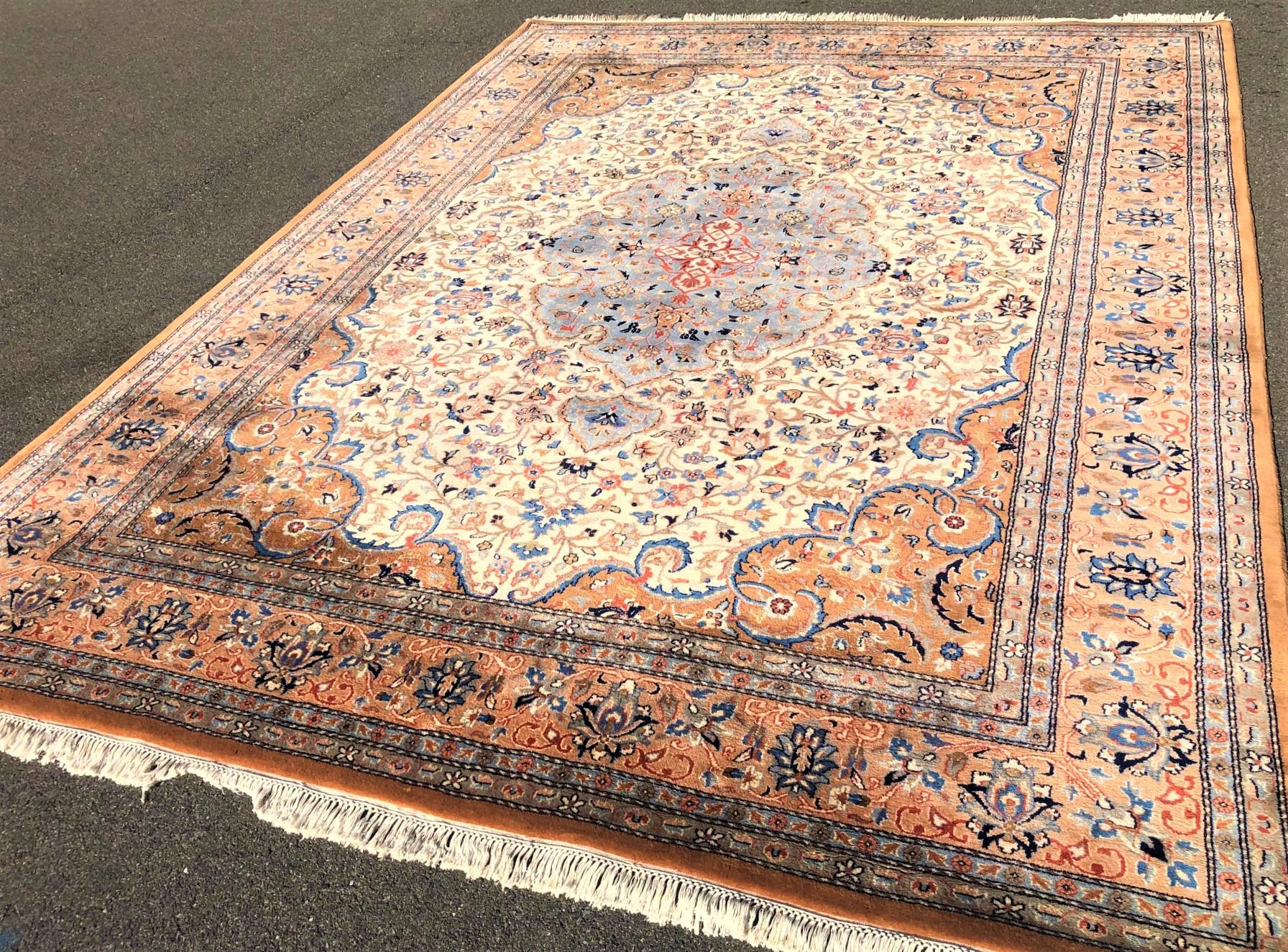 PERSIAN TABRIZ HAND KNOTTED RUG - 9.2 x 12.3