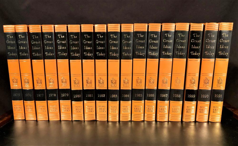 THE GREAT IDEAS TODAY BOOK SERIES OF BRITANNICA GREAT BOOKS BY ENCYCLOPEDIA BRITANNICA INC – 1962 THRU 1991 OR 30 VOLUMES