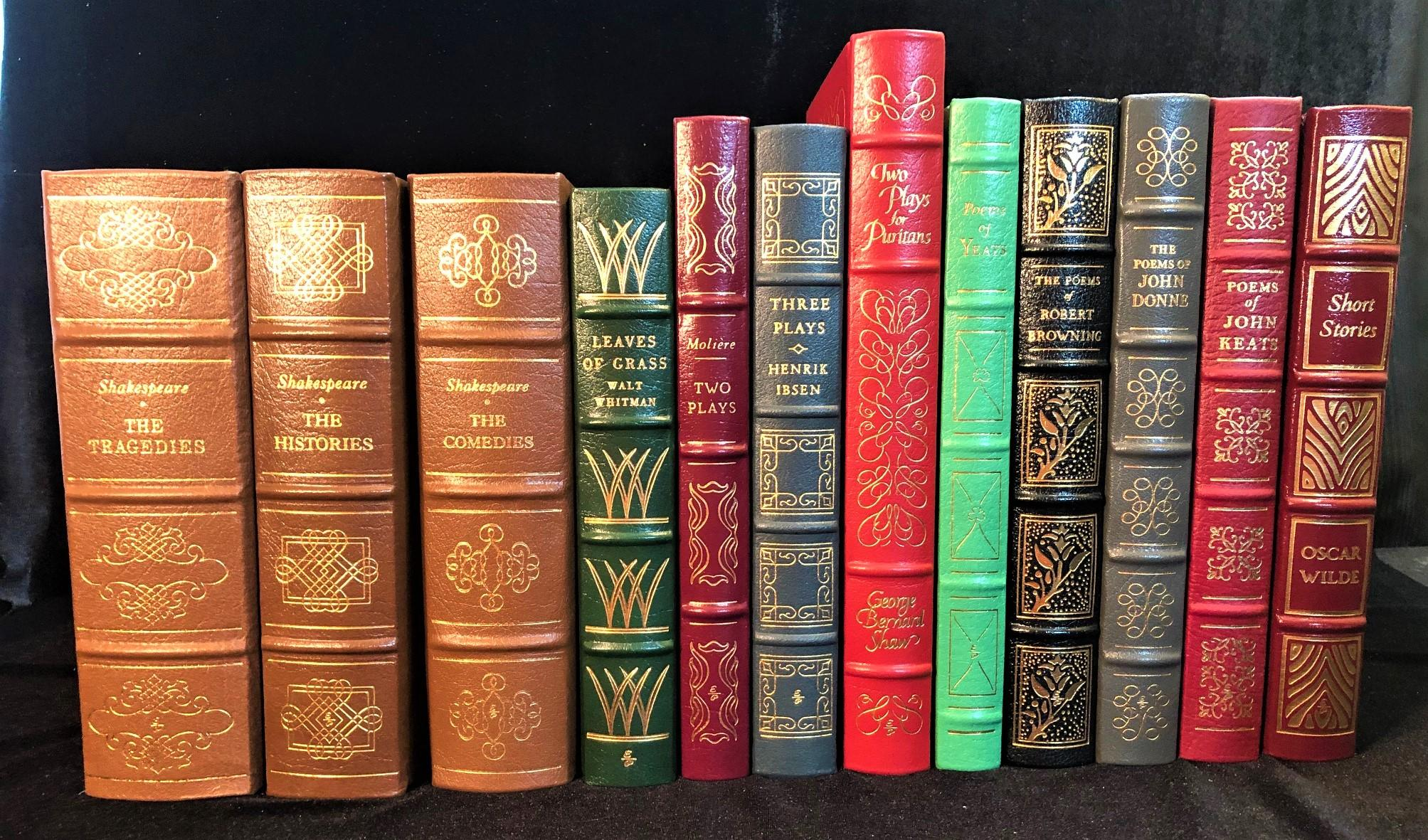 PLAYS AND POETRY BY EASTON PRESS 100 GREATEST BOOKS EVER WRITTEN IN 12 VOLUMES