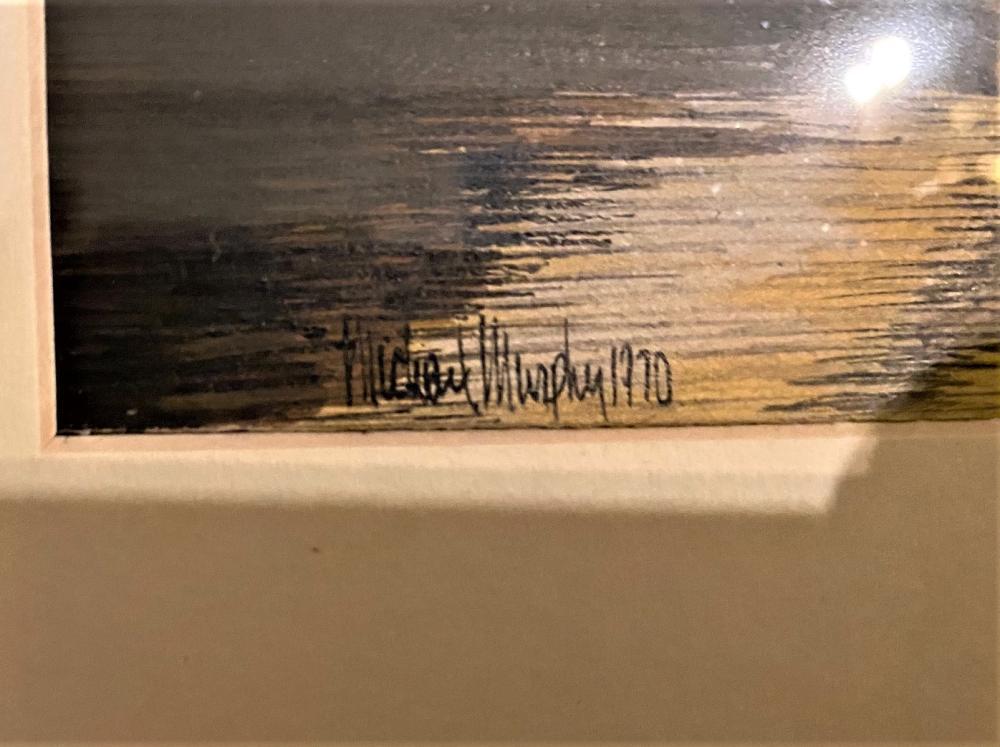 MICHAEL MURPHY (1943-Now) ORIGINAL WATERCOLOR ON PAPER, MEASURING 22in x 26in