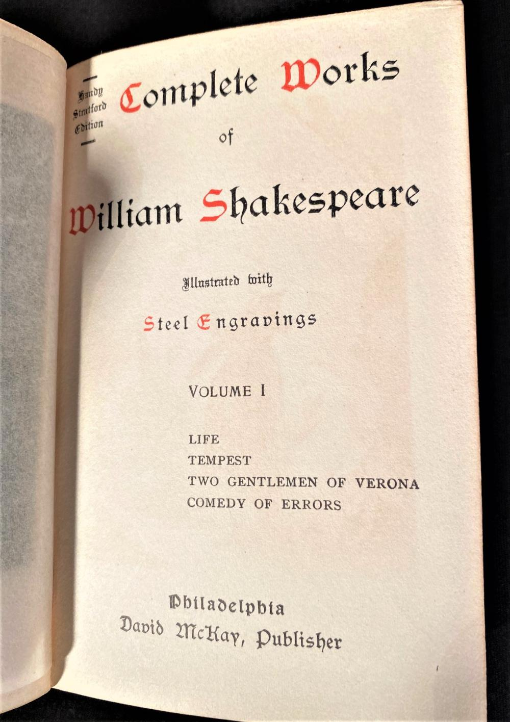 COMPLETE WORKS OF WILLIAM SHAKESPEARES - IN 13 VOLUMES - 1890s