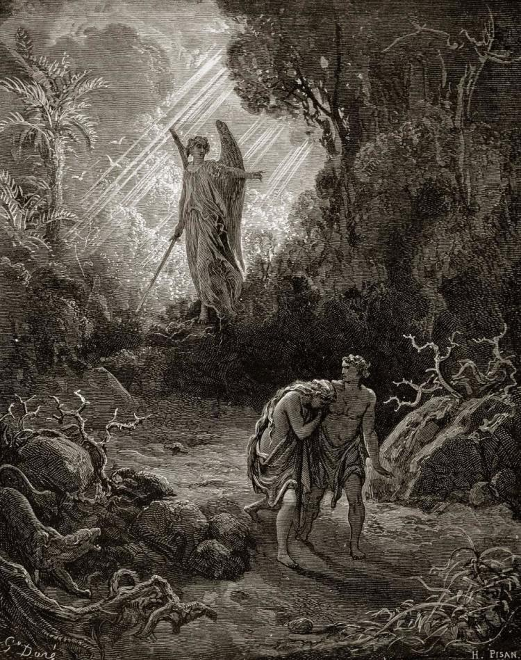 Gustave Dore Adam Amp Eve The Expulsion From The Garden F