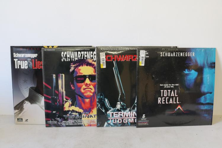 Lot of Vintage Laser Disc Movies, Arnold Schwartzenegger
