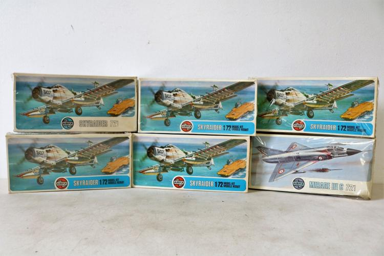 Lot of 6 Airfix Scale Model Kits