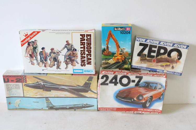 Lot of 5 Scale Model Kits, new in Boxes