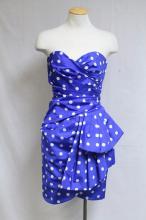 Vintage 1980s Victor Costa Polka Dot Party Dress