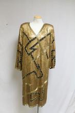 Vintage 1980s Gold Sequined Dress