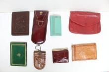 Vintage Lot of 8 Leather Accessories