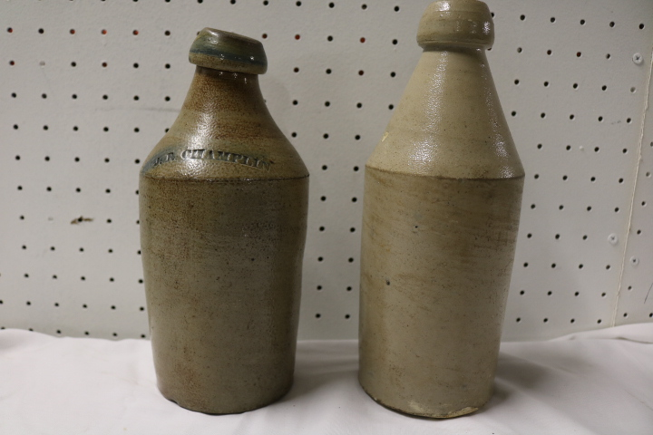 pair of pottery Bottles