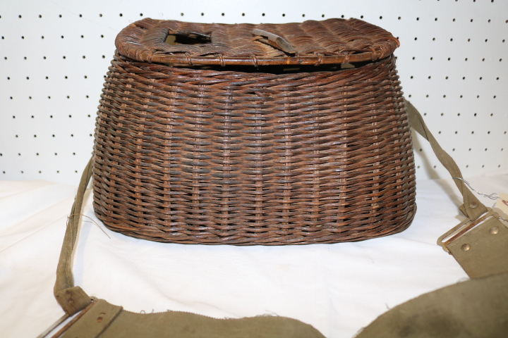 Antique Wicker Fishing Creel