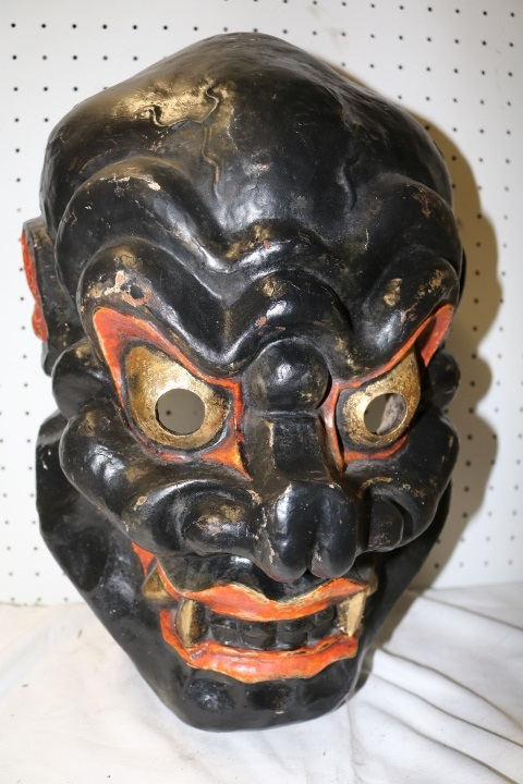 Asian Mask, hand made, and hand painted
