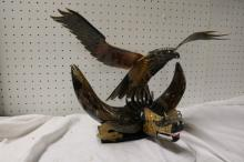 Exotic Hand carved Buffalo Horn Dragon and Eagle