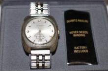 Men's Waltham Watch, Quartz Analog, 17 Jewels, Swiss Made