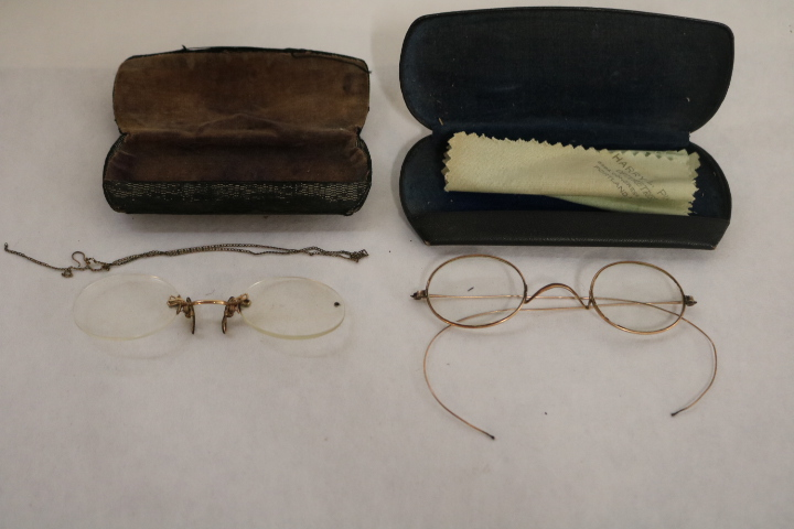 Pair Antique Eye Glasses in cases