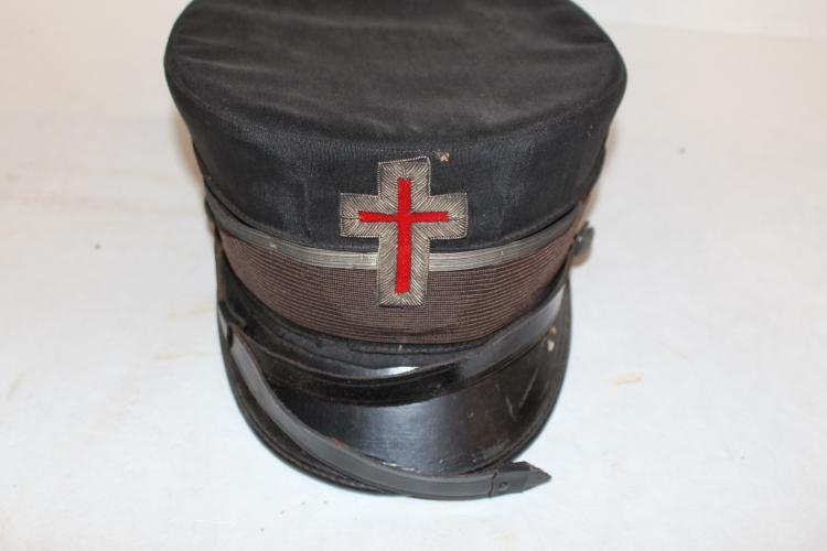 Antique Masonic Hat circa 1860, The Boston Regalia Co. size 7