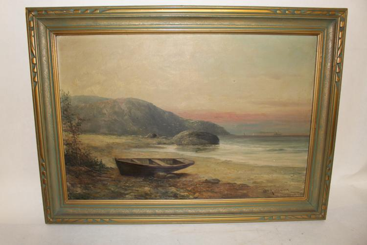 G. W. Richardson, Oil on Canvas, Marine Seascape