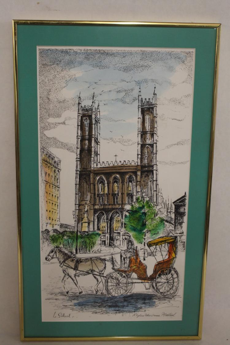 L. Gobeil Colored Serigraph, signed