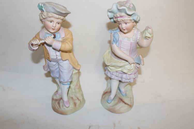 Pair of antique German Bisque figures