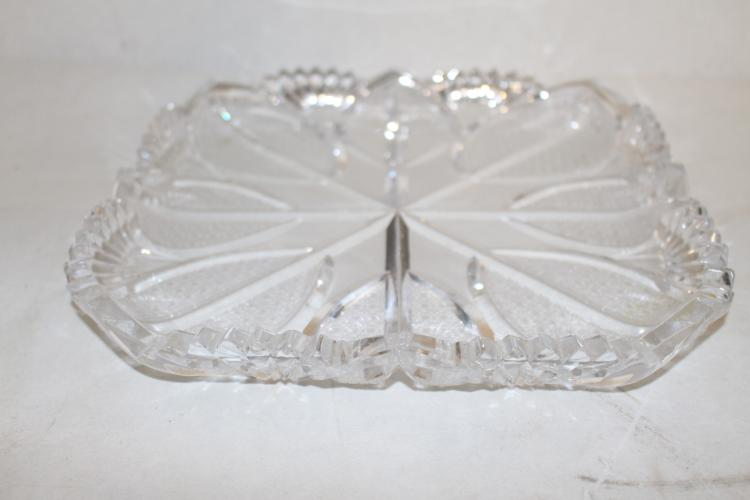 circa 1910 large Cut Glass Ice Cream Platter