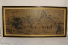 Asian Rice Paper on Board signed art