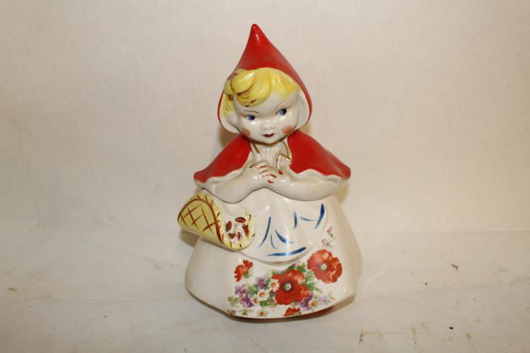 Little Red Riding Hood Cookie Jar, hull #967
