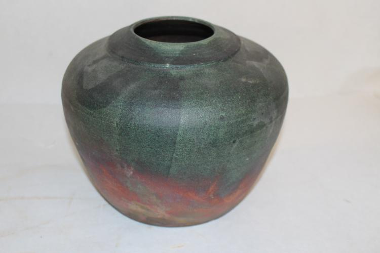 Signed Art Pottery Planter with Luster finish