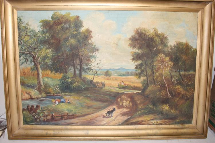 Signed Oil on canvas, landscape framed