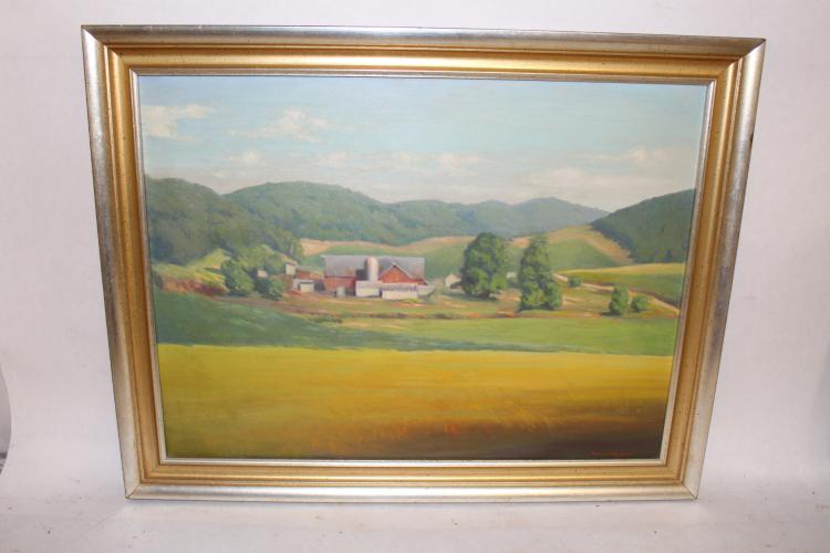 Oil on Canvas, Landscape signed